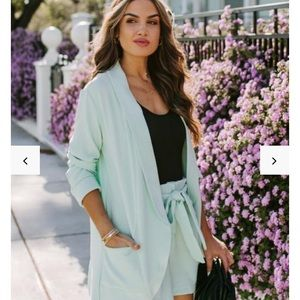 Vici collection blazer and shorts matching set